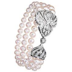 Diamond Bracelets, Pearl Bracelet, Pearl Jewelry, Fine Jewelry, Bangles, Jewlery, Beaded Bracelets, Style Russe, Faberge Jewelry