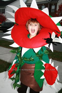 Cool Homemade Venus Fly Trap Costume for a Boy... Coolest Halloween Costume Contest
