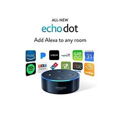 Echo Dot Generation) - Black in Consumer Electronics, TV, Video & Home Audio, Internet & Media Streamers Amazon Alexa Echo Dot, Amazon Echo, Amazon Dot, Amazon Video, Home Internet, Internet Radio, Uber, Alexa App, Iphone Hacks