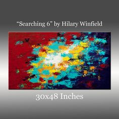 Large 30x48 Inch Original Textured Painting Palette by HWinfield, $575.00