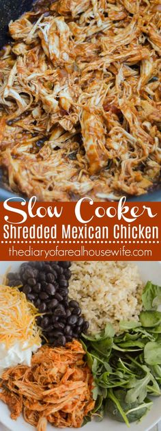 Slow Cooker Shredded Mexican Chicken The Diary of a Real Housewife Chicken crockpot recipes Mexican Chicken Tacos, Slow Cooker Mexican Chicken, Crockpot Recipes Mexican, Slow Cooker Shredded Chicken, Mexican Shredded Chicken, Healthy Chicken Recipes, Chicken Cooker, Recipe Chicken, Shredded Chicken In Crockpot