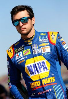 Chase Elliott Photos Photos - Chase Elliott, driver of the #24 NAPA Chevrolet, stands by his car during qualifying for the Monster Energy NASCAR Cup Series Auto Club 400 at Auto Club Speedway on March 24, 2017 in Fontana, California. - Auto Club Speedway - Day 1