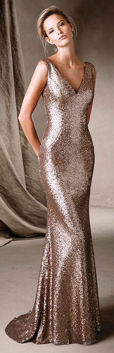 Platinum Paiette Cocktail Dresses By Scala