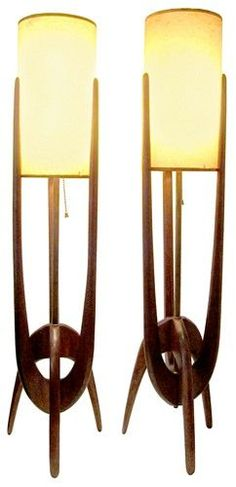 These Danish modern table lamps, would be perfect in a mid century styled home.