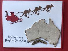 """Love this Christmas die. Something Australian to send overseas. Homemade Christmas Cards, Diy Christmas Gifts, Christmas Greetings, Homemade Cards, Handmade Christmas, Christmas Decorations Australian, Australian Christmas Cards, Aussie Christmas, Xmas Cards"
