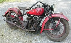 1936's Indian Sport Scout. - I would love one that looked like this but was running perfectly, if you know what I mean!