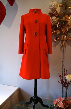 60s Red Coat // Vintage 1960s Fabulous Mod Red by xtabayvintage, $398.00