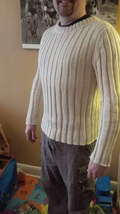 Leo is a free pattern by Kristi Porter - all ribbing and fine needles, apparently a very long work