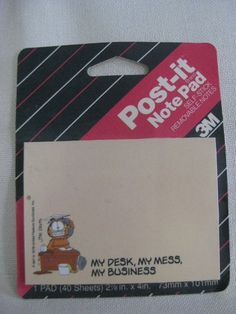 Vintage Garfield Post Its by VintageByThePound on Etsy