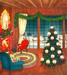 Old Time Christmas, Christmas Card Images, Vintage Christmas Images, Christmas Scenes, Retro Christmas, Christmas Greeting Cards, Christmas Pictures, Christmas Greetings, Christmas Holidays