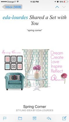 Spring Corner  #decoratewithflowers