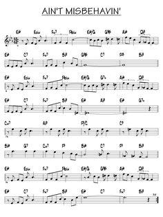 Partition Aint misbehavin piano guitare