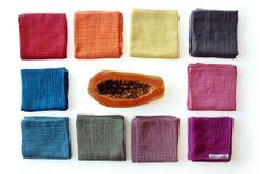 carlota barnabe Quadrados de musseline | Muslin squares  Fraldas/doudou para bebés | baby nappies/doudou Cores 2014 | colors 2014
