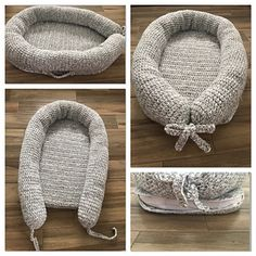 Ravelry: Nest-A-Baby pattern by Greenfield Creations Baby Nest Pattern, Baby Patterns, Knitting Patterns, Crochet Patterns, Baby Basinets, Baby Moses, Knitted Baby Blankets, Boho Baby, Learn To Crochet