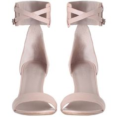 Ankle Strap Sandal (1.235 BRL) ❤ liked on Polyvore featuring shoes, sandals, heels, momma shoes, heel sandals, ankle strap heel sandals, leather sandals, buckle sandals, nude heeled sandals and high heels sandals