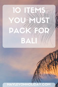 Deciding what to pack for a trip to Bali? Check out my post on the 10 things you must include on your Bali packing list.