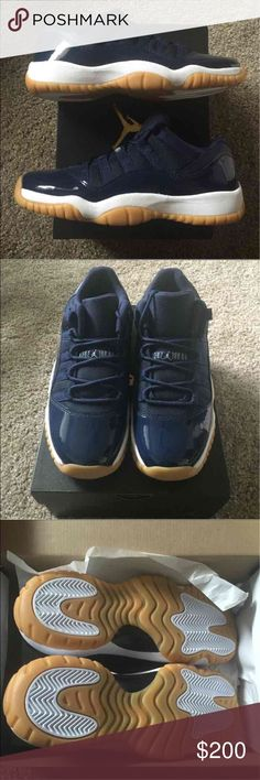 Air Jordan 11 low BNIB youth size 6.5, woman's size 8!   Perfect condition, no flaws! OG everything!   Will double box when shipped (:  Thanks for looking! Jordan Shoes Sneakers