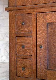 Reviving a Late Row House Kitchen - Old House Restoration, Products & Decorating Kitchen Restoration, Row House, Cabinet, House Restoration, Victorian Kitchen, Home Kitchens, Craftsman Kitchen, Kitchen Renovation, House On A Hill