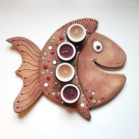 Keramika / Zboží | Fler.cz Hand Built Pottery, Slab Pottery, Ceramic Pottery, Pottery Art, Pottery Animals, Ceramic Animals, Fish Sculpture, Pottery Sculpture, Clay Fish