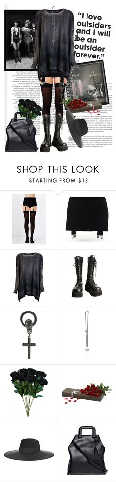 """The lovely outsiders"" by lisannevicious ❤ liked on Polyvore featuring Avant Toi, Demonia, Chris Habana, Franz Marfurt Lucerne, Sia, Maison Michel, 3.1 Phillip Lim and ESPRIT"