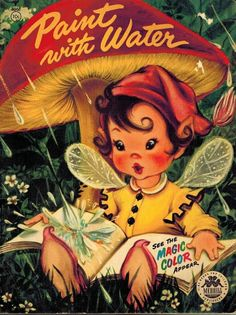 Paint With Water See The Magic Color Appear Pixie Fairy Merrill 1954 Child VTG