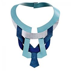 Leather necklace - free pattern from burda France