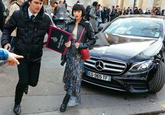 Mademoiselle Yulia with a Paco Rabanne bag
