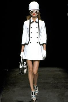 """60's-inspired collection - this micro trend continues from NY."" Moschino Spring 2013 RTW #mfw"