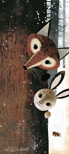 Greg Abbott: Really like the stylisation of these illustrated animals. Minimal detail and the simple colours work well.