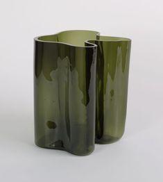 "Alvar Aalto (Finnish, 1898–1976)  Vase (3031)  Manufacturer:Karhula-Iittala Glassworks, Iittala, FinlandDate:1936Medium:Mold-blown glassDimensions:11 1/2 x 12 1/4 x 11 1/4"" (29.2 x 31.1 x 28.6 cm) (irreg.)"