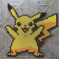 Pikachu perler beads by hamuuuuuulove