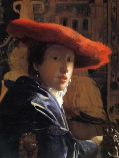 Johannes Vermeer (Dutch, 1632-1675): Girl with the Red Hat, c. 1665/1666. Oil on panel, 22.8 x 18 cm (9 x 7-1/16 inches). National Gallery of Art, Washington DC, USA, Andrew W. Mellon Collection