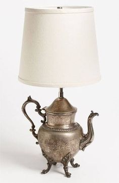 Teapot into a lamp