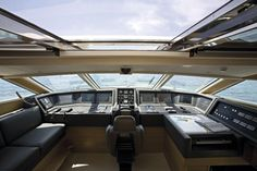 Internal view Custom Line - CL 97' #yacht #luxury #ferretti #customline