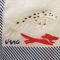 40s Vintage Vera Silk Scarf Dogs Dalmatian & Dachshund Rare Vera Neumann Early Design Late 1940s Dogs At Play