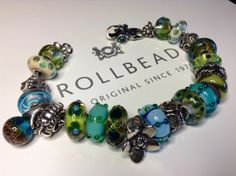 My Secret Garden, from a collector on Trollbeads Gallery Forum! Join us!