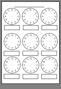 Digital Clock Worksheets Along with Free Printable Blank Clock Faces Worksheets Clock Worksheets, Free Kindergarten Worksheets, Worksheets For Kids, Teaching Resources, Abc Kindergarten, Kindergarten Addition, Addition Worksheets, Printable Worksheets, Free Printables