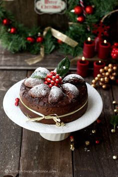 Imagen de christmas, cake, and chocolate Christmas Sweets, Christmas Kitchen, Noel Christmas, Christmas Goodies, Christmas Baking, Christmas Cakes, Christmas Fruitcake, Christmas Lodge, Tartan Christmas
