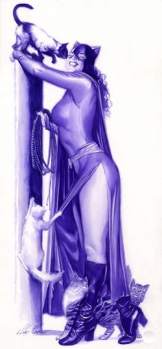 Catwoman by Alex Ross Comic Art