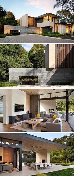Atherton Avenue Residence by Arcanum Architecture in Atherton, California #fachadasverdesarchitecture