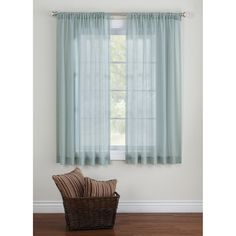 Canopy Elise Tonal Stripe Sheer Curtain Panel 8.96$ Short Look For Girls  Room? Much