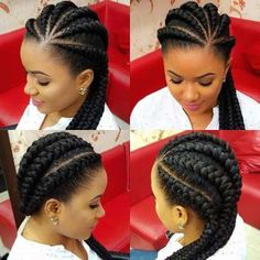 Ghana Braids Protective Hairstyle