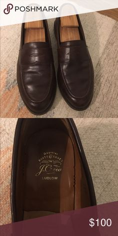 Men's J.Crew Ludlow Penny Loafers Men's J.Crew Size 9.5 Ludlow Penny Loafers, brown leather, shoe tree now included. Great condition! J. Crew Shoes Flats & Loafers