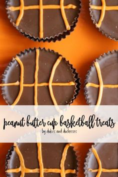 Celebrate March Madness or a great season with fun themed basketball snacks including peanut butter cup basketball treats that will be a crowd pleaser! Game Day Snacks, Game Day Food, Party Hacks, Party Ideas, Sports Themed Birthday Party, Party Food And Drinks, Peanut Butter Cups, Perfect Party, Fun Desserts
