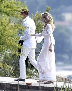Pre-wedding party ahead of the wedding of Pierre Casiraghi and Beatrice Borromeo on 1 of the Borromeo family private island off Italy. July 31, 2015
