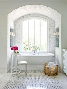 15 Simply Chic Bathroom Tile Design Ideas | Bathroom Ideas & Design with Vanities, Tile, Cabinets, Sinks | HGTV