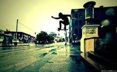Urban Skateboard Trick Wallpaper