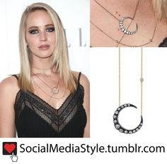 Buy Jennifer Lawrence's Crescent Moon Necklace, here!