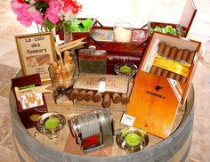 bar à cigare et cigarette, mariage champêtre  - Mariage champêtre / chic - château de Loubejac (82)