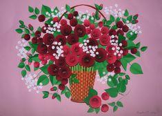 Quilling art 3D art tableau de Roses dans une corbeille Quilling fait à la main…